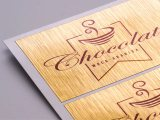 Brushed Gold Vinyl Labels