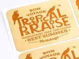 Polished Gold Vinyl Labels