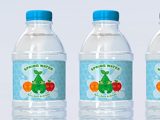 Water Bottle Labels & Stickers