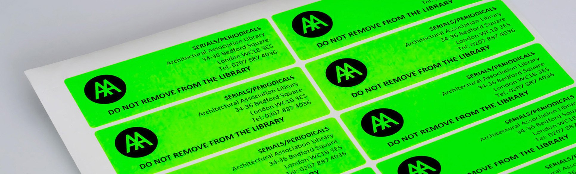 Fluorescent Paper Labels