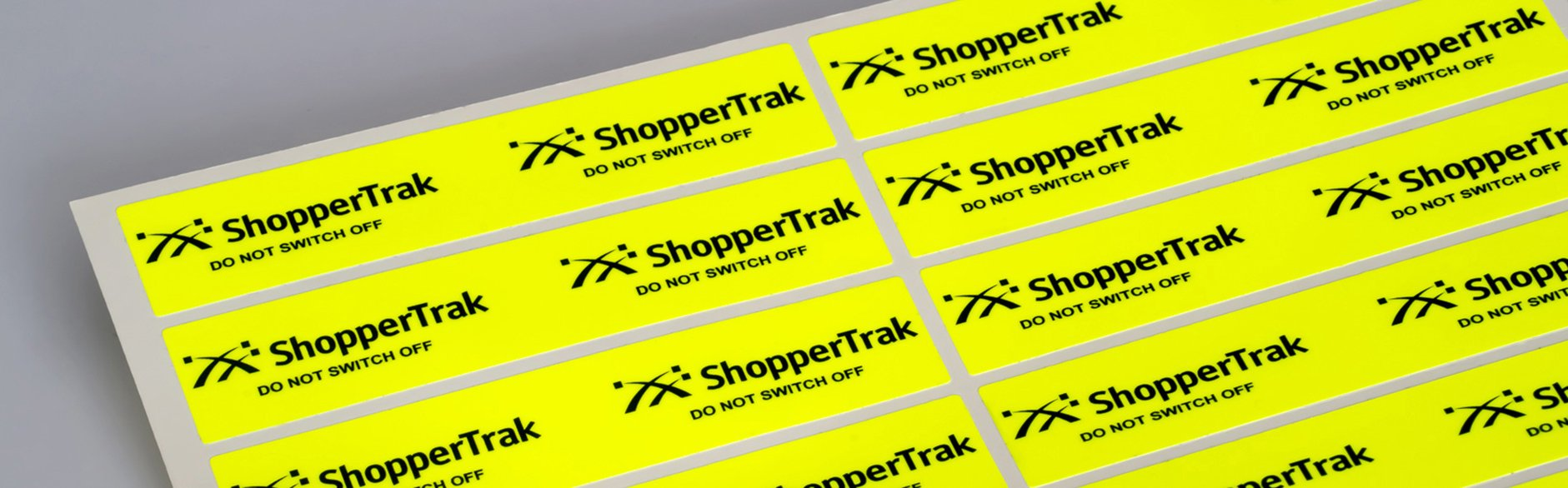 Fluorescent Pink, Green, Orange, Red or Yellow Vinyl Labels