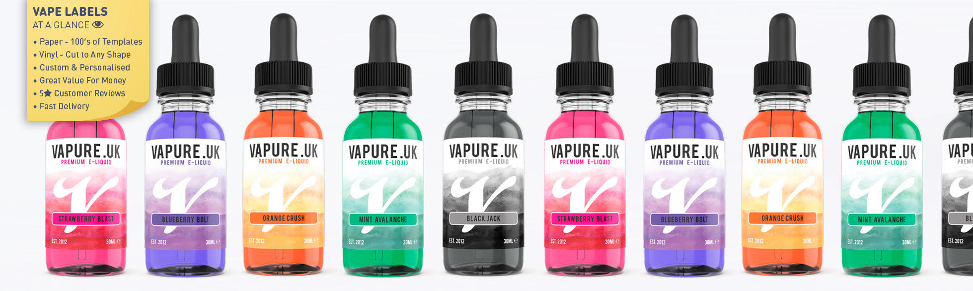 Vape E-Liquid Refill Labels