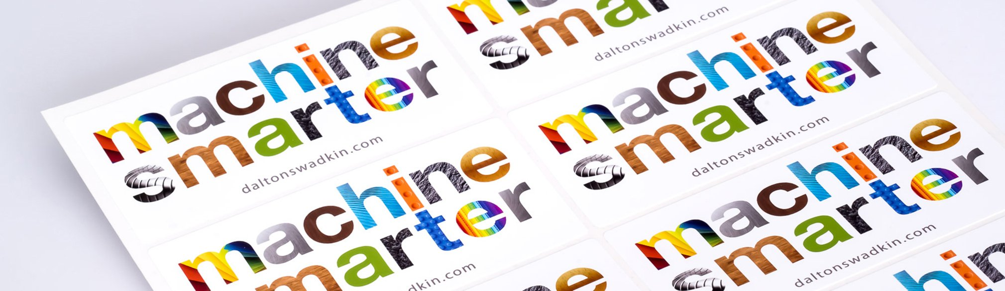 White Glossy Waterproof Stickers